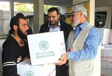 حملة رواد جامع علي محمد كانو لإغاثة اللاجئين السوريين