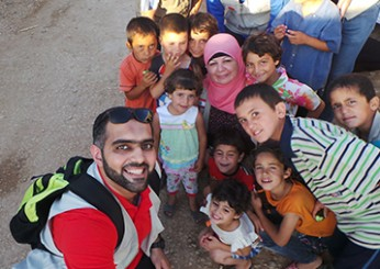الرحلة الإغاثية للاجئين السوريين